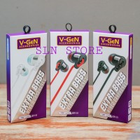Earphone V-GeN High Quality Stereo Extra Bass Headset Vgen Handsfree