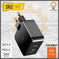 Mcdodo Adaptor 30W PD + QC 3.0 Wall Charger EU plug CH6921