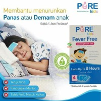Plasters Demam Pure Kids Fever Free isi 4