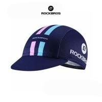 ROCKBROS MZ100 Bicycle Cap Hat - Topi Sepeda - BLUE 2 LINE