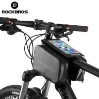 Rockbros As-006 tas sepeda frame Waterproof Tube Bag Double - black
