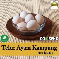 Produk organik premium - Telur ayam kampung (isi 10 butir)