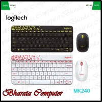 Keyboard and Mouse Logitech Wireless Combo MK240 Nano