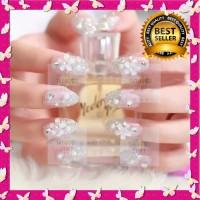 Kuku Palsu Nikah 3D Bridal Wedding Nail Art Bride Fake False Nails