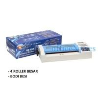 Mesin Laminating OR330-Bodi Besi 4 Roller - Lebar 330-2 Lampu pemanas