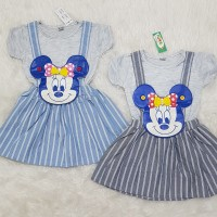 Baju Overall Kodok Setelan Anak Bayi Perempuan Minnie