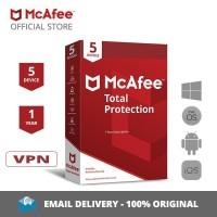 McAfee Total Protection Antivirus ORIGINAL [5 Device, 1 Year] + VPN
