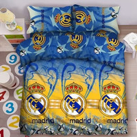 Sprei Single FATA ukuran 100 x 200 Single Club Bola - Madrid