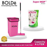 Package BOLDe Super Mop X Eco + Twin Pack BOLDe Sabun Pembersih Lantai