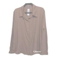 Atasan Kemeja wanita Luxury Basic Rayon Polos Terlaris Choco Fit M-L