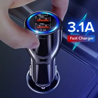 car charger carger carjer cas casan hp mobil motor 3.1A fast charging