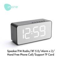 Inone Speaker Bluetooth Wireless with Alarm Clock FM Radio Portable - model rectangle