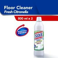 SOS Pembersih Lantai - Sereh Botol [800 mL] x 2