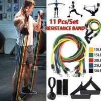 Resistance Band Bands Tube Tubes Set Alat Fitness GYM