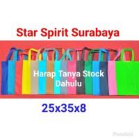 Tas Spunbond /kain / goodie bag tali / souvenir 25 x 35 x 8