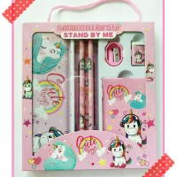study set paket alat tulis set stationery karakter unicorn kuda tanduk
