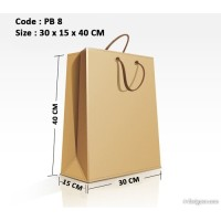 Paper Bag Shopping Bag Tas Kertas Polos 30x15x40