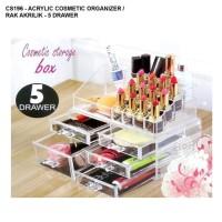 Rak Kosmetik Akrilik 5 Laci Tempat Make Up