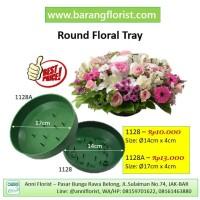 Round Floral Tray (1128A), piring bunga, kakatan bunga,aksesoris bunga