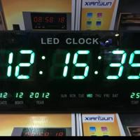 Jam Dinding Digital LED Meja LED Clock 4622 Hijau
