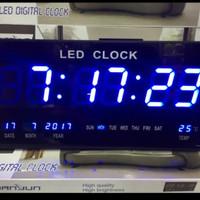 Jam Dinding Digital LED Meja LED Clock 4622 Biru