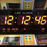 Jam Dinding Digital LED Meja LED Clock 4622 kuning