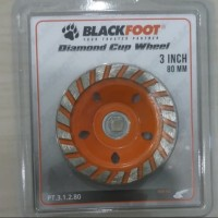 diamond cup 3inci 80mili blacfoot diamond wheel cup