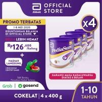 Pediasure Coklat 400g (1-10 tahun) Susu Formula Pertumbuhan - 4 klg