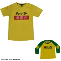 755.Atasan Kaos Fashion Ayah Dan Anak