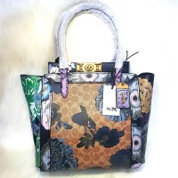Coach Troupe Tote In Signature Canvas With Kaffe Fassett Print