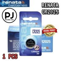 Baterai Renata CR2025 Original Lithium Coin Battery 3 Volt CR 2025