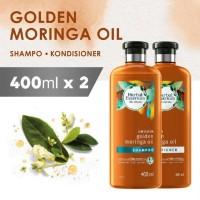 Bundle Shampoo + Conditioner Herbal Essences Golden Moringa Oil 400ml