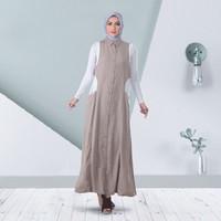 Gamis Wanita Elegan Hayfa Warna Coklat