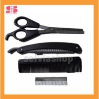 Paket Hemat - Gunting Sasak Pencukur Sisir Rambut Set 4 Pcs