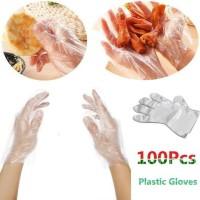 sarung tangan plastik 100pcs/1 box