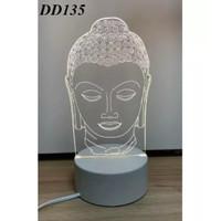 Lampu Tidur Tema Religi Lampu Hias 3D Transparan Akrilik 3 Warna Lampu
