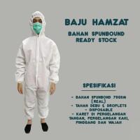Baju Hazmat Suit APD Waterproof Spunbond 75 gsm Ready Stock