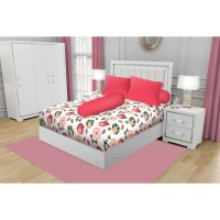 SPREI QUEEN CALIFORNIA FITTED 160X200 OWLS + Free Masker