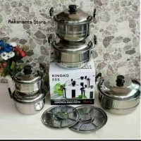 Panci Set Kingko 555 Plus Steamer - Panci Set - Panci Kingko