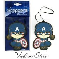Parfum Pewangi Mobil Kertas Gantung - Karakter Captain America