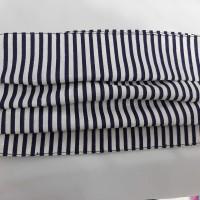 Masker kain katun 2ply lapis tissu tali karet motif line