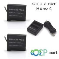 TERLARIS charger baterai smatree gopro hero 4 TERLENGKAP