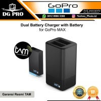GoPro Max Dual Battery Charger + Battery for HERO Max - Garansi TAM