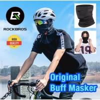 rockbros original masker buff bandana sepeda motor berkualitas - hitam