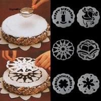 6Pcs Cetakan Stempel Kue / Biskuit / tiramisu Bahan Plastik Food