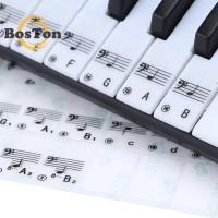 Bo Stiker 88 Kunci Transparan untuk Keyboard Piano Elektronik