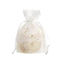 Souvenir Pesta Kantung Tas Permen dengan Bahan Kain Warna Putih