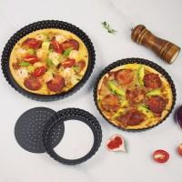 Panci Pizza Kecil dengan Lubang Besi