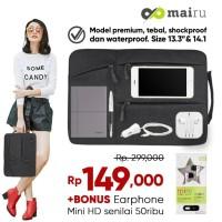 Tas Laptop Sleeve Mairu Softcase Bag for Macbook 13/14 inch Waterproof