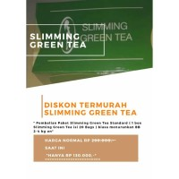 SLIMMING GREEN TEA PAKET COBA-COBA (1-3kg/minggu)